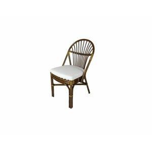 Ratanová jídelní židle BALI, tmavá
