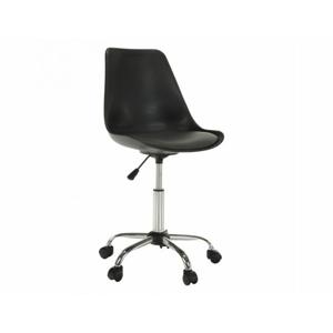 Kancelářská židle DARISA, černá / tmavě šedá