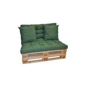 Sada polstrů na paletový nábytek - tmavě zelený MELÍR