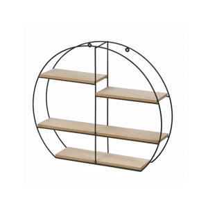 Dřevěná polička DESIO TYP 2, přírodní/černá