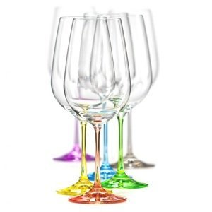 Crystalex Sklenice na víno VIOLA Rainbow 550 ml, 6 ks