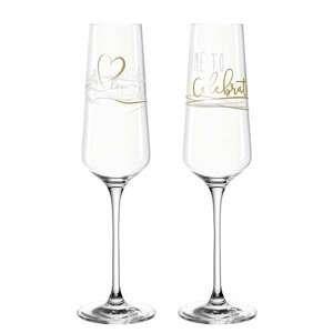 Leonardo PRESENTE CELEBRATE sklenice na sekt 280 ml, 2 ks