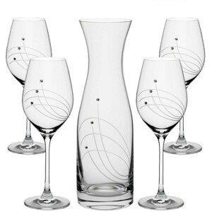 SWAROVSKI CLASSIC set na víno (1+4)