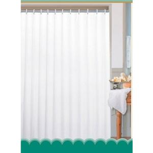 Sprchový závěs Sapho Aqualine polyester jednobarevný bílý 180x180 cm 0201103B