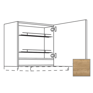 Kuchyňská skříňka horní Naturel Sente24 pro digestoř 60x72x35 cm dub sierra 405.WDAF657RN