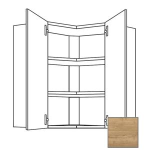 Kuchyňská skříňka horní Naturel Sente24 rohová 65x72x35 cm dub sierra 405.WE651L
