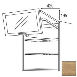 Kuchyňská skříňka horní Naturel Sente24 zlamovací 60x72x35 cm dub sierra 405.WFLG601