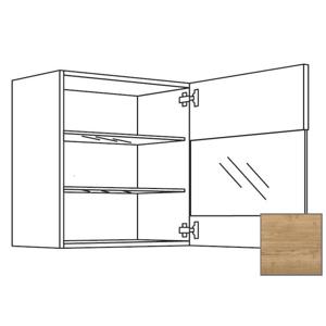 Kuchyňská skříňka horní Naturel Sente24 s dvířky 60x72x35 cm dub sierra 405.WGLS601R