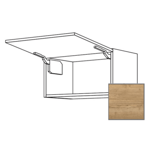 Kuchyňská skříňka horní Naturel Sente24 výklopná 90x72x35 cm dub sierra 405.WK9036N