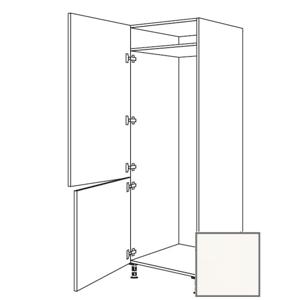 Kuchyňská skříňka vysoká Naturel Erika24 pro lednici 60x214,7x56 cm bílá lesk 450.GD1781.L