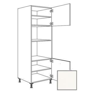 Kuchyňská skříňka vysoká Naturel Erika24 pro troubu a mikrovlnnou troubu 60x214,7x56 cm bílá 450.GMDK1.R