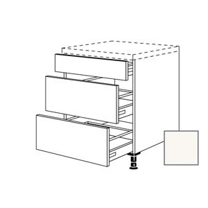 Kuchyňská skříňka spodní Naturel Erika24 zásuvková 90x87x56 cm bílá lesk 450.UA90