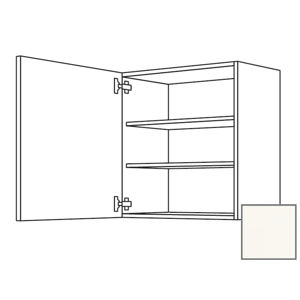Kuchyňská skříňka horní Naturel Erika24 s dvířky 30x72x35 cm bílá lesk 450.W301.L