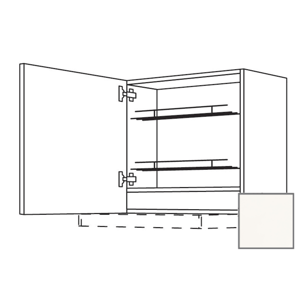 Kuchyňská skříňka horní Naturel Erika24 pro digestoř 60x72x35 cm bílá lesk 450.WDAF657LN