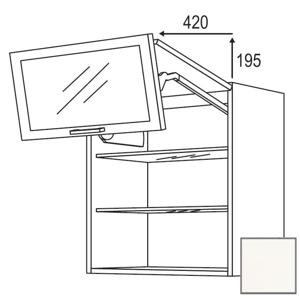 Kuchyňská skříňka horní Naturel Erika24 zlamovací 60x72x35 cm bílá lesk 450.WFLG601