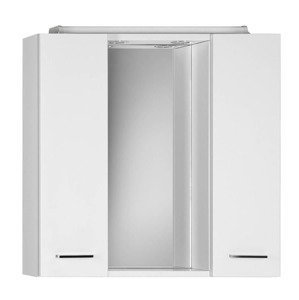 Zrcadlová skříňka s osvětlením Aqualine Zoja 70x60 cm bílá 45025