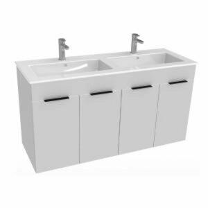Koupelnová skříňka s umyvadlem Jika Cube 120x43x62,2 cm bílá H4536611763001