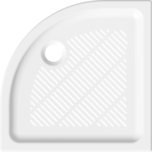 Sprchová vanička čtvrtkruhová Jika 80x80 cm keramika 8.5272.3.000.000.3