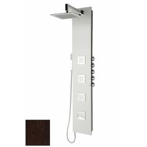 Sprchový panel Sapho 5SIDE SQUARE s pákovou baterií wenge 80223