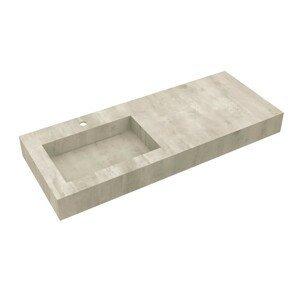 Deska se zabudovaným umyvadlem vlevo Salgar Compakt 120x12x51 cm beton 87246
