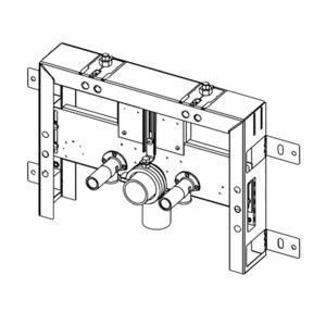 Konstrukce pro zazdění k bidetu Tece Box 9.370.031