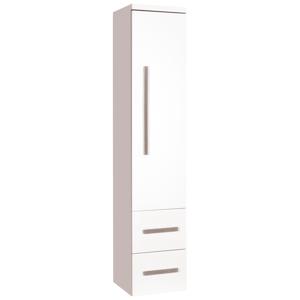 Koupelnová skříňka vysoká Naturel Cube Way 32,5x33 cm bílá lesk CUBE2V35BL