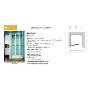 Atypické sprchové dveře SUPERNOVA - ASDP3 90x188cm satin transparent GB1910030342