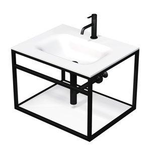 Konstrukce s umyvadlem bílá mat Naturel Industrial 66x46,2x53 cm bílá police KONZOLEUM65BB