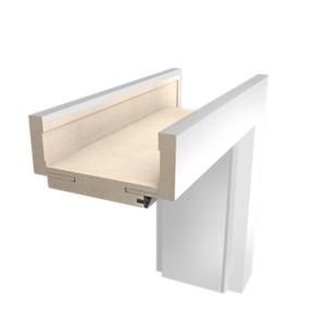 Obložková zárubeň Naturel 80 cm pro tloušťku stěny 10-14 cm bílá pravá O2BF80P