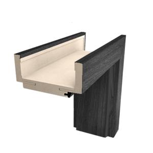 Obložková zárubeň Naturel 70 cm pro tloušťku stěny 12-14 cm jilm antracit pravá O3JA70P