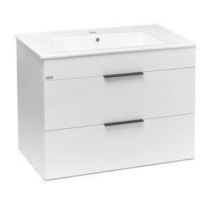 Koupelnová skříňka s umyvadlem Jika Plan 80x44,1x62,2 cm bílá H4537621763001