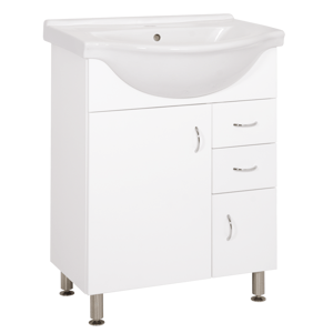 Koupelnová skříňka s umyvadlem Keramia Pro 65,8x51,4 cm bílá PRO65DV