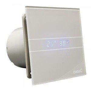 Ventilátor CATA e100 GSTH sklo hygro časovač stříbrný
