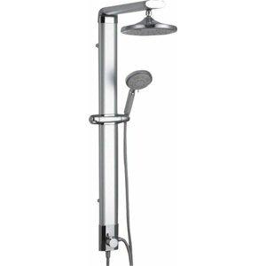 Sprchový panel Sapho TOUR na stěnu i do rohu bez baterie aluminium SL030