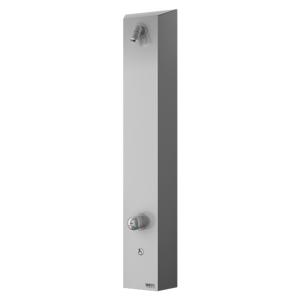 Sprchový panel Sanela na stěnu s vypínačem nerez SLSN02P