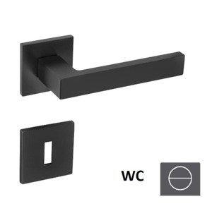 Klika Naturel SQUARE WC knoflík (WC) černá matná SQUAREHR5SBSWC