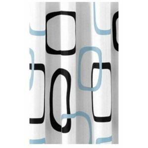 Aqualine polyester bílá/černá/modrá ZP004 180x200 cm