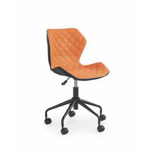 Dětská židle Maro, černá / oranžová