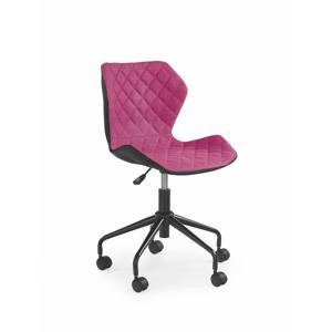 Dětská židle Matio, černá / růžová