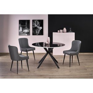 Skleněný kulatý jídelní stůl Avesta