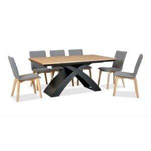 Jídelní stůl z dubového masivu Eskimo 47, rozkládací (170-270cm)