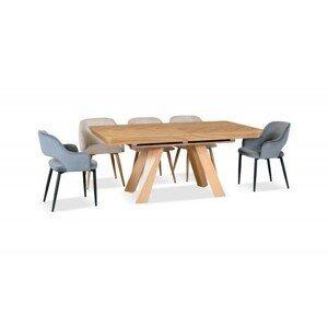 Jídelní stůl z dubového masivu Eskimo 39, rozkládací (180-380cm)