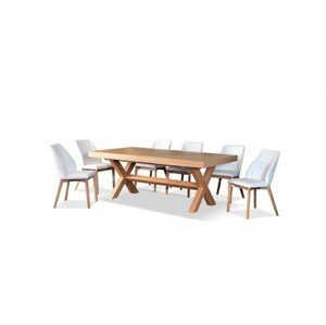 Jídelní stůl z dubového masivu Eskimo 46, rozkládací (200-300cm)