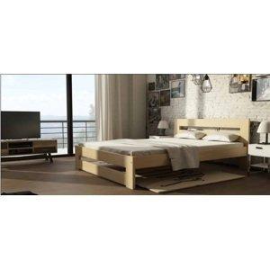 Manželská postel z masivu Marcela 160x200cm  DLM: Dekor Ořech
