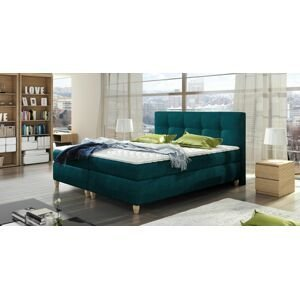 Luxusní box spring postel Melanie 140x200  WSL: Potah Žinilka Soro 40 žlutá