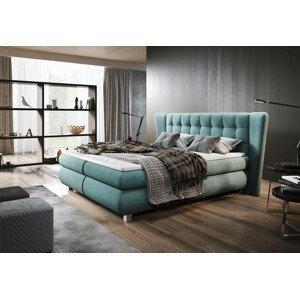 Luxusní box spring postel Florencie 180x200  WSL: Potah Žinilka Jasmine 35 zelená