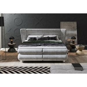 Luxusní box spring postel Viano 160x200 s výběrem potahu!  WSL: Potah Žinilka Riviera 62 růžovofialová