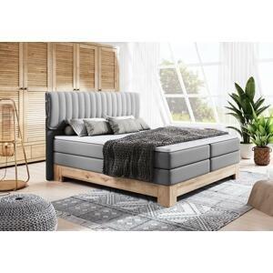 Luxusní box spring postel Marianne 180x200  WSL: Potah Eko-kůže Madryt 195 šedá