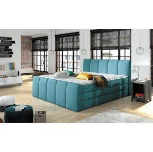 Luxusní box spring postel Form 180x200  WSL: Potah Režná látka Flash 19 černá