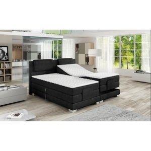 Luxusní box spring postel Vero 140x200  WSL: Potah Eko-kůže Madryt 120 bílá